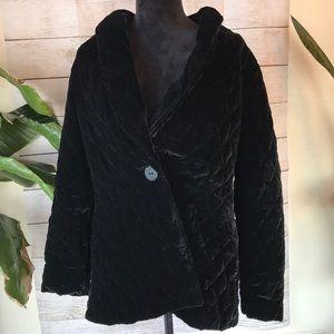Habitat jacket boyfriend black quilted velvet